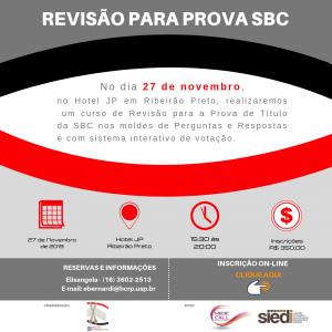 REVISÃO PARA PROVA SBC – Sociedade Brasileira de Coluna – 27/11/2019