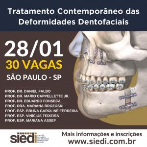 Tratamento Contemporâneo das Deformidades Dentofaciais – 28/01